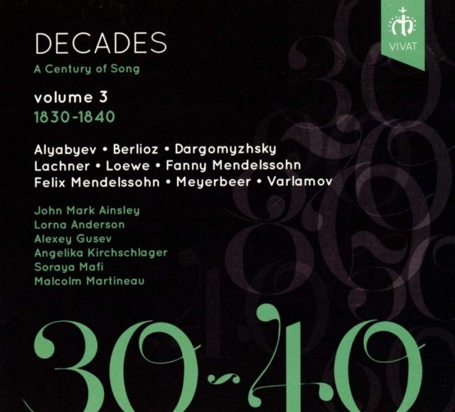 New CD Release:  Decades: A Century of Song Vol 3,  in the highly acclaimed series with Malcolm Martineau